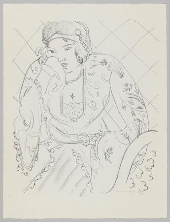 Lithographie Matisse - Orientale à la croix trifoliée