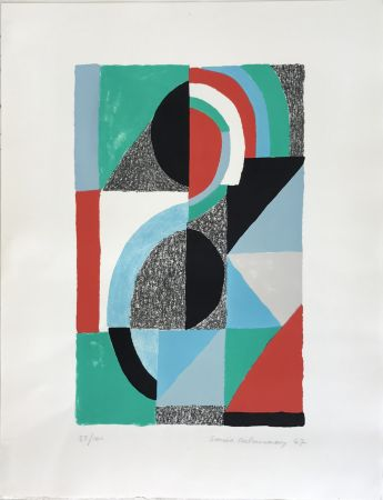 Lithographie Delaunay - Oriflamme 1967