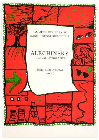 Affiche Alechinsky - Original lithographier , Editions Atelier Clot