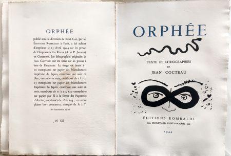 Livre Illustré Cocteau - ORPHÉE. avec 41 LITHOGRAPHIES ORIGINALES DE JEAN COCTEAU (1944)