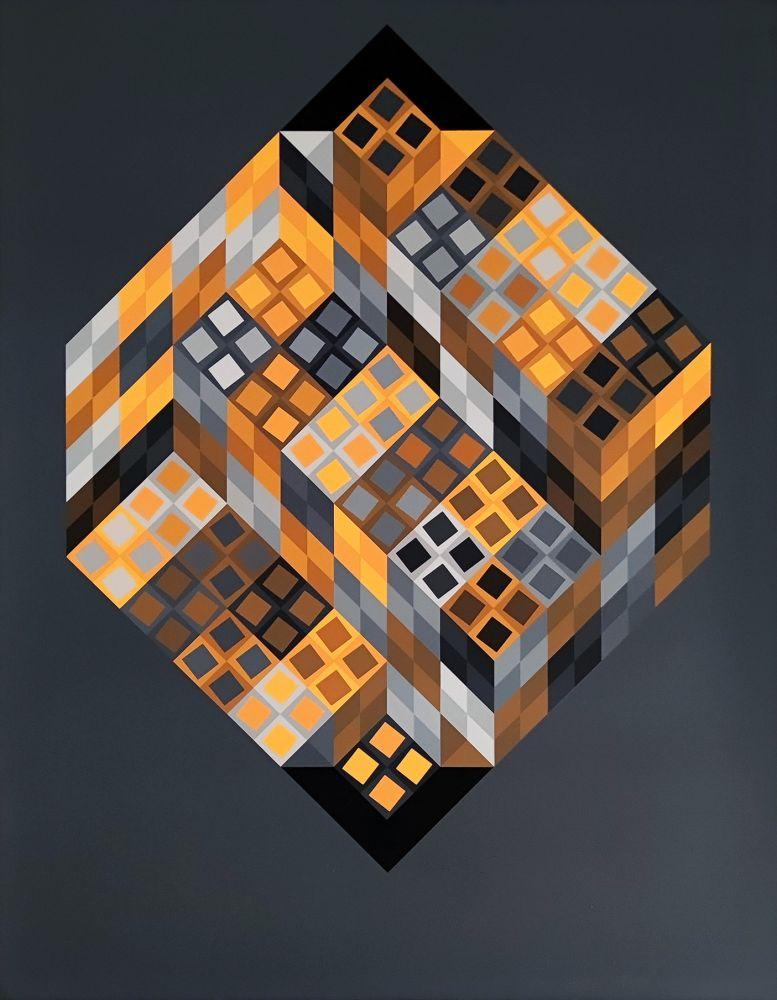Sérigraphie Vasarely - Orvar