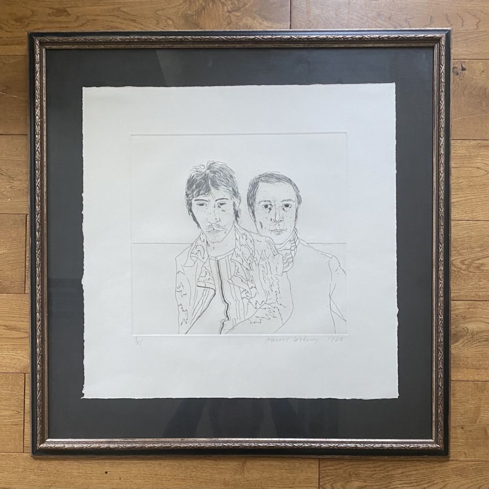 Gravure Hockney - Ossie and Mo