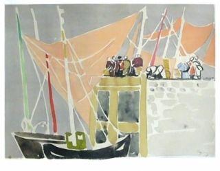 Lithographie Pignon - Ostende