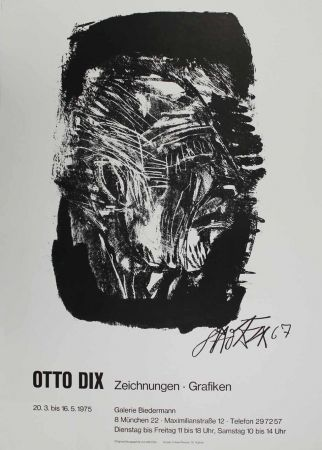 Lithographie Dix - Otto Dix Zeichnungen - Grafiken