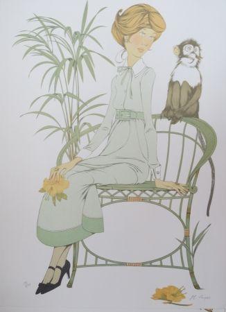 Lithographie Noyer - Ouistiti