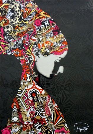 Sérigraphie Prefab77 - Oulandos D'amour - Black/gold