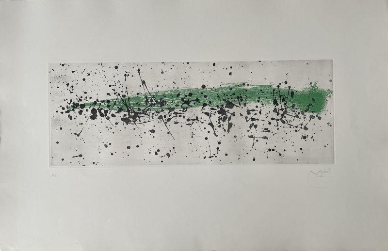 Aquatinte Miró - Ouvrage du vent I