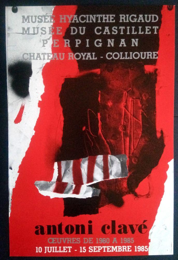 Affiche Clavé - Ouvres 1980 1985 Museé du Castillet Perpignan