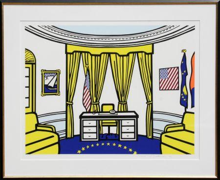 Sérigraphie Lichtenstein - Oval Office