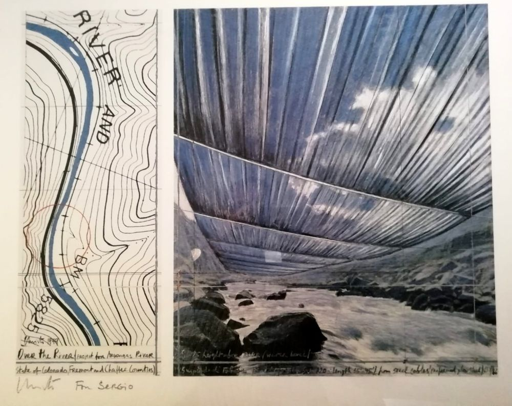 Affiche Christo - Over the river (Project for Arkansas River) Signed