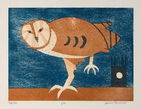 Eau-Forte Et Aquatinte Trevelyan - Owl