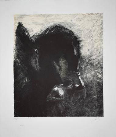 Lithographie Redon - Pégase Captif / Captive Pegasus 1889