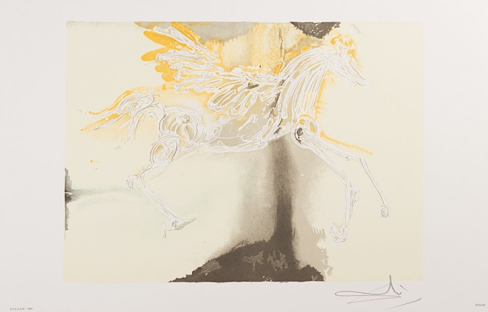 Lithographie Dali - Pégase (Pegasus)