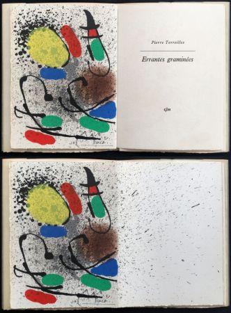 Livre Illustré Miró - P. Torreilles : ERRANTES GRAMINÉES. Lithographie originale signée (1971).