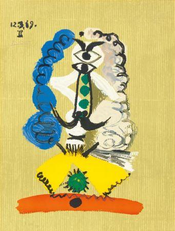 Lithographie Picasso - Pablo Picasso- Portrait Imaginaires 12.3.69 II