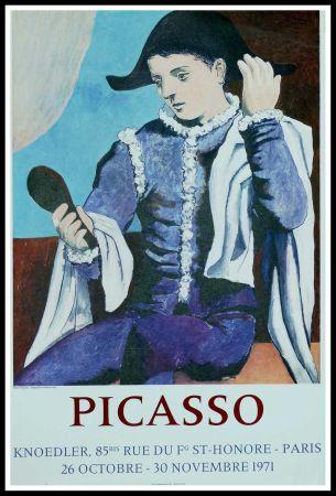 Affiche Picasso - PABLO PICASSO GALERIE KNOEDLER L'ARLEQUIN AU MIROIR