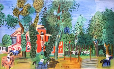 Lithographie Dufy - Paddock a Deauville
