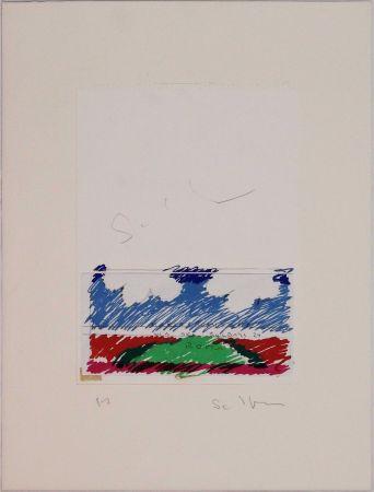 Lithographie Schifano - Paesaggio