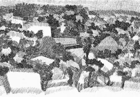 Eau-Forte Gulino - Paesaggio