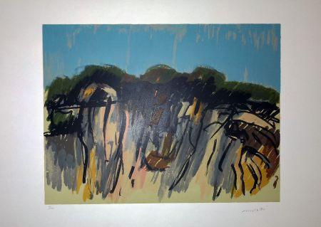 Lithographie Morlotti - Paesaggio