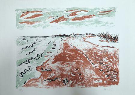 Lithographie Tamburi - Paesaggio