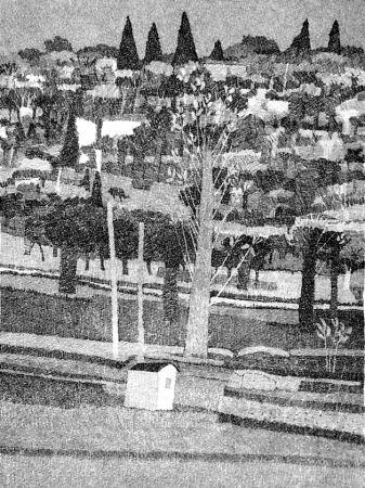 Eau-Forte Gulino - Paesaggio 1983
