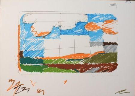 Sérigraphie Schifano - Paesaggio anemico