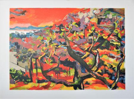 Lithographie Guttuso - Paesaggio di Torre del Greco