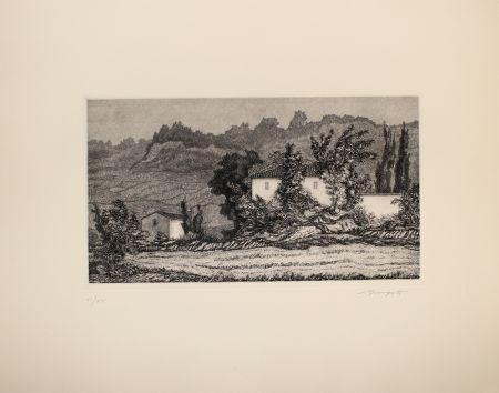 Eau-Forte Mongatti - Paesaggio / Landscape