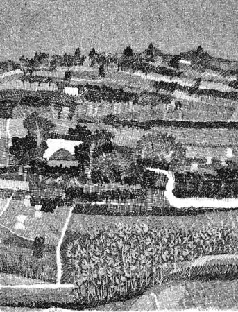 Eau-Forte Gulino - Paesaggio marchigiano