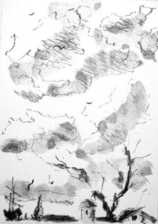 Lithographie De Pisis - Paese antico