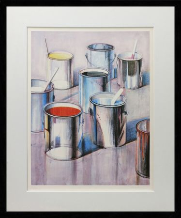 Lithographie Thiebaud - PAINT CANS