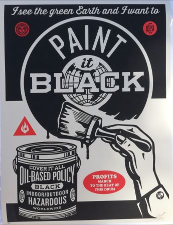 Sérigraphie Fairey - Paint it black