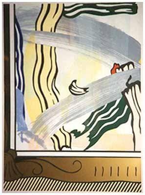 Gravure Sur Bois Lichtenstein - Painting In Gold Frame