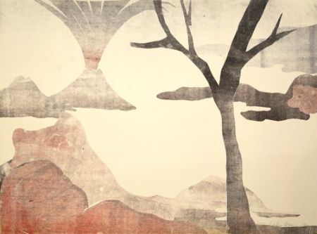 Monotype Ikemura - Paisajes con el monte Fuji 13