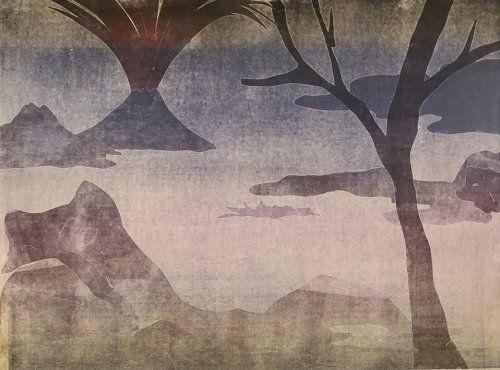 Monotype Ikemura  - Paisajes con el monte Fuji 14