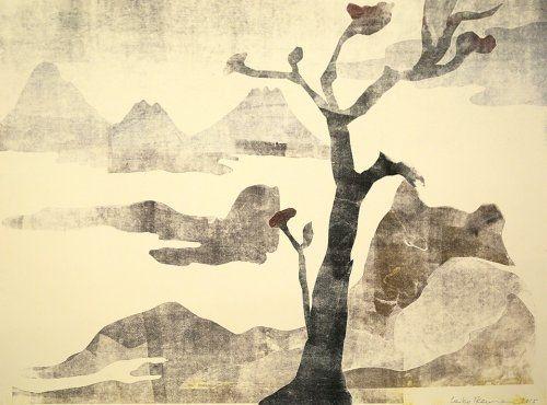 Monotype Ikemura  - Paisajes con el monte Fuji 16