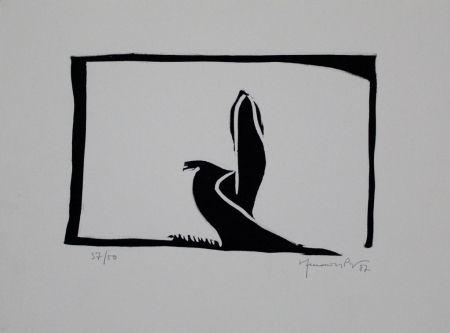 Linogravure Hernandez Pijuan - Paisatge III / Landscape III
