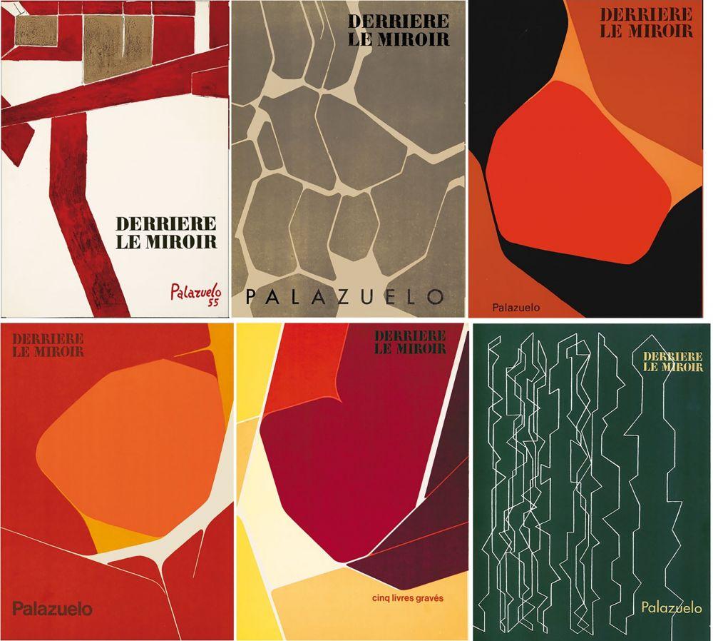 Livre Illustré Palazuelo - PALAZUELO. Collection complète des 6 volumes de la revue DERRIÈRE LE MIROIR consacrés à Palazuelo (parus de 1955 à 1978). 26 ESTAMPES ORIGINALES.