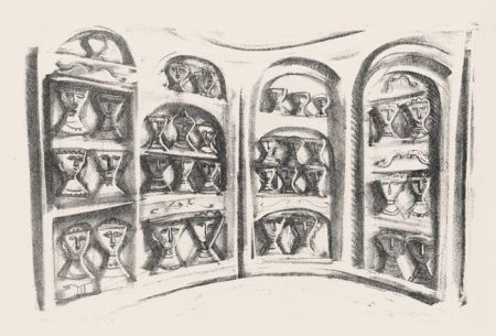 Lithographie Campigli - Palchi Di Teatro