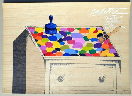 Sérigraphie Pozzati - Palette