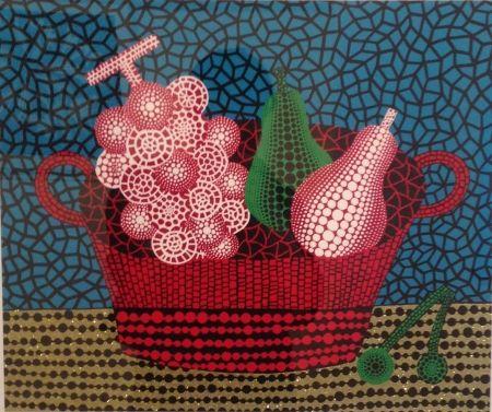 Sérigraphie Kusama - Panier de fruits(I)