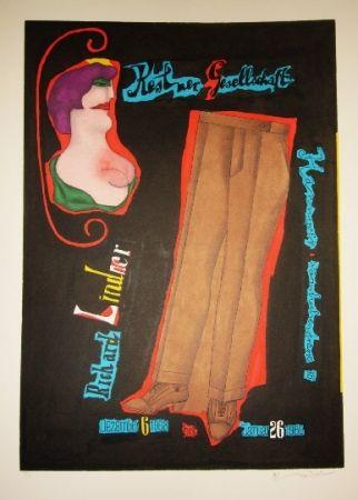 Lithographie Lindner - Pantalon