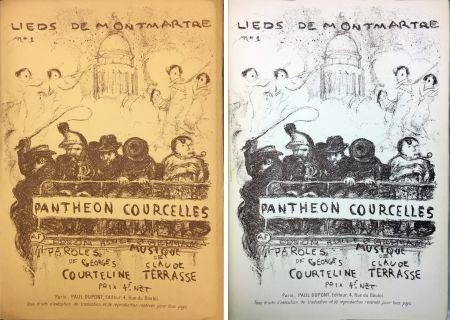 Lithographie Bonnard - PANTHÉON - COURCELLES, avec une couverture de Pierre Bonnard (1899)