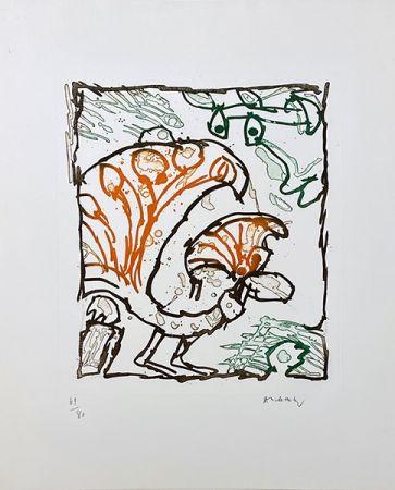 Gravure Alechinsky - Paon
