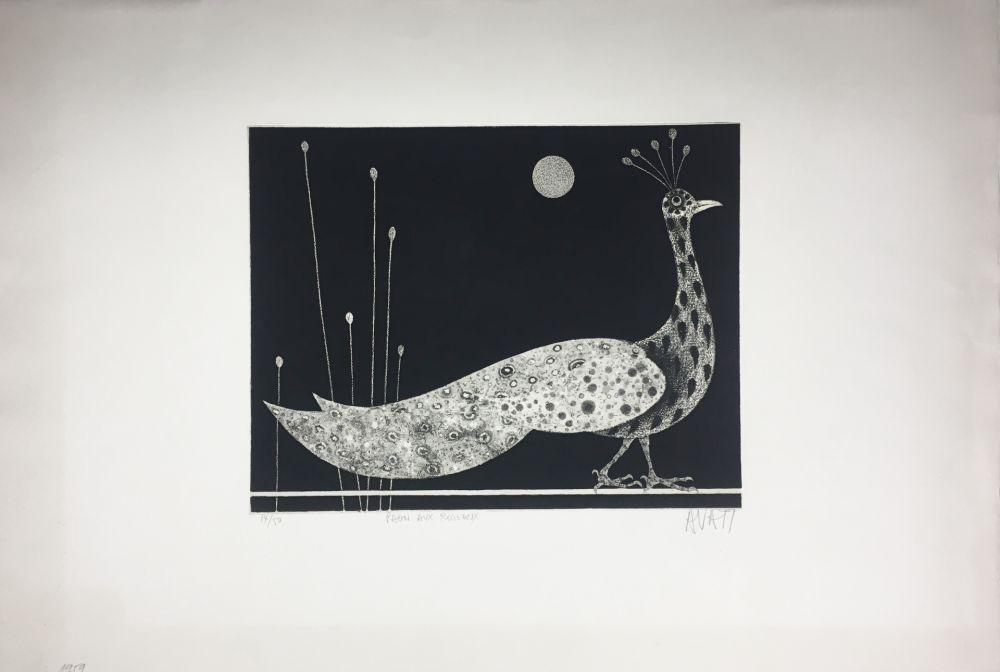 Manière Noire Avati - PAON AUX ROSEAUX (1958)