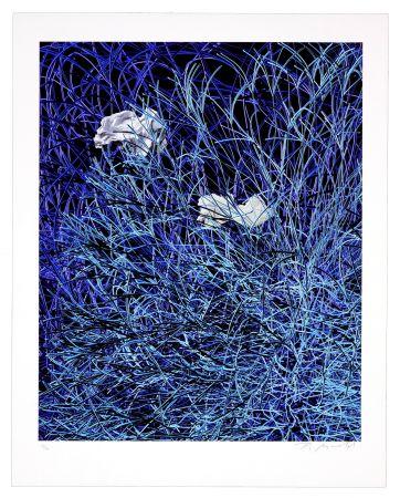 Estampe Numérique Myrvold - Paper in Blue Wires
