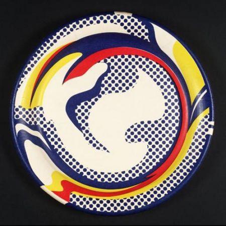 Sérigraphie Lichtenstein - Paper plate 1969