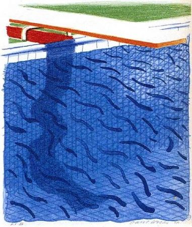 Lithographie Hockney - Paper Pools