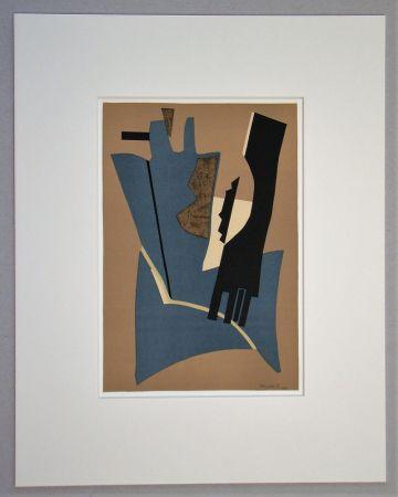 Lithographie Magnelli - Papier collé - 1948